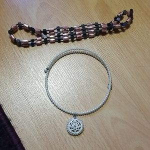 Chocker and magnetic bracelet